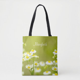 Wildflowers Philadelphia Daisies Soft Focus Botany Tote Bag
