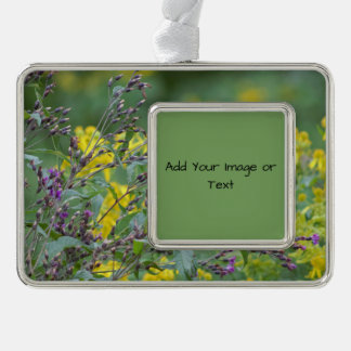 Wildflowers Photo Silver Plated Framed Ornament