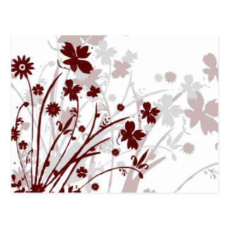 Wildflowers Postcard (Burgundy)