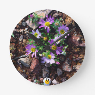 Wildflowers Round Clock