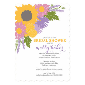 "Wildflowers Shower Invitation 5"" X 7"" Invitation Card"