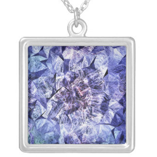 WILDFLOWERS SQUARE PENDANT NECKLACE