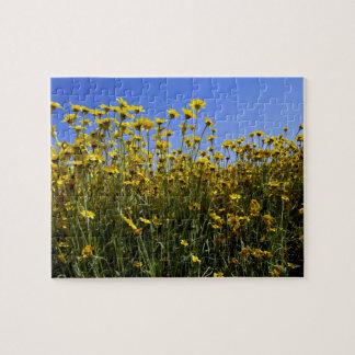 Wildflowers Sunflowers Jigsaw Puzzle