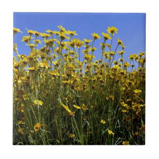 Wildflowers Sunflowers Tile