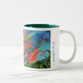 Wildflowers Two-Tone Coffee Mug
