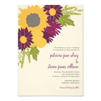 "Wildflowers Wedding Invitation 5"" X 7"" Invitation Card"