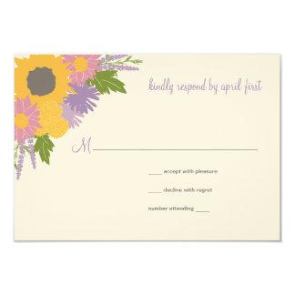 Wildflowers Wedding Response Announcement