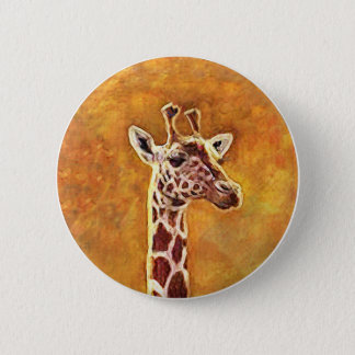Wildlife African Giraffe Button