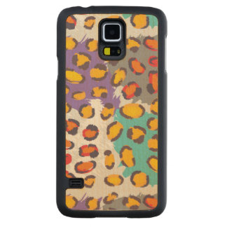 Wildlife animal pattern maple galaxy s5 slim case