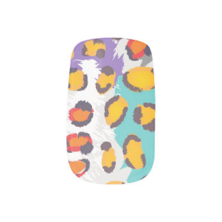 Wildlife animal pattern minx nail art