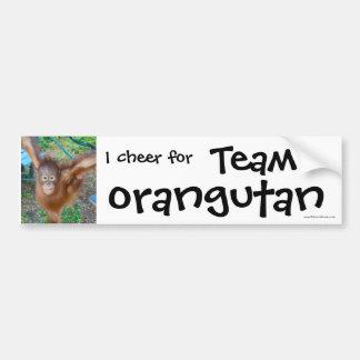 Wildlife Cheerleader : Team Orangutan Bumper Sticker