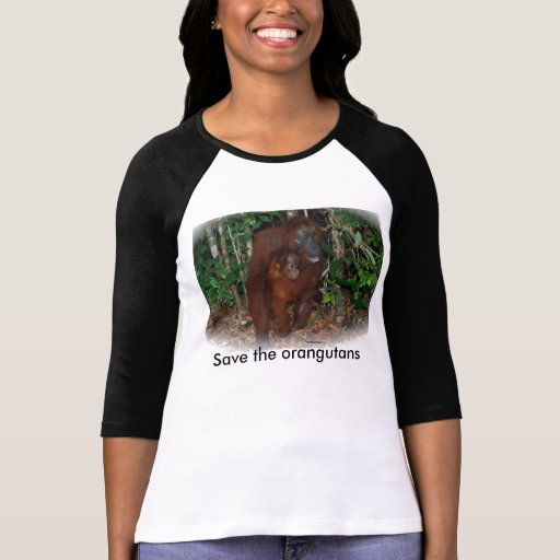 Wildlife Conservation : Great Ape Mother and Baby Tee Shirts
