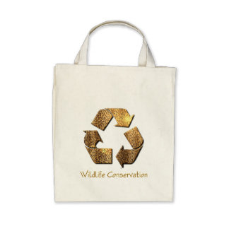 Wildlife Conservation Grocery Tote Bag