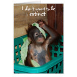 Wildlife Conservation Pouty Baby Card