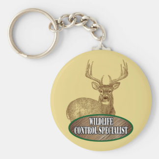 Wildlife Control Specialist Basic Round Button Key Ring