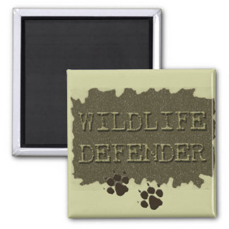 wildlife defender with pawprints magnets