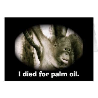 Wildlife  Extinction Southeast Asia Palm Oil Greeting Card