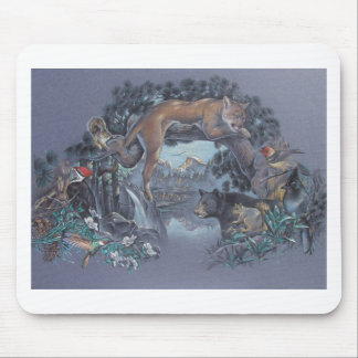 Wildlife Gathering Mouse Pad