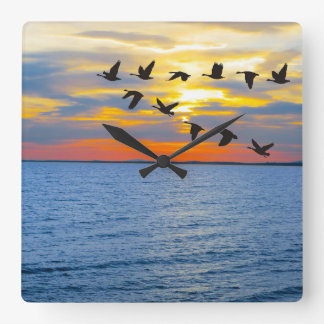 Wildlife image for Square-Wall-Clock Square Wall Clock