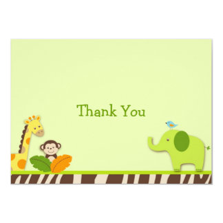 Wildlife Jungle Animal Thank You Note Cards