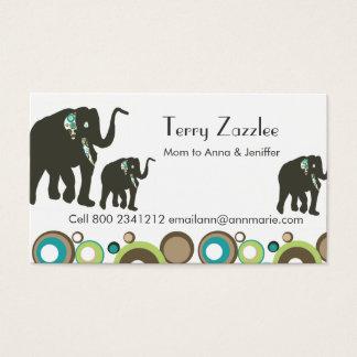 Wildlife Jungle Mommy Elephant  Safari Business Card