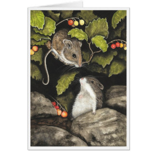 Wildlife Mice Hamster by BiHrLe Card