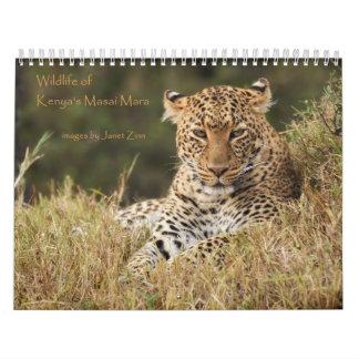 Wildlife of Kenya's Masai Mara Calender Calendar