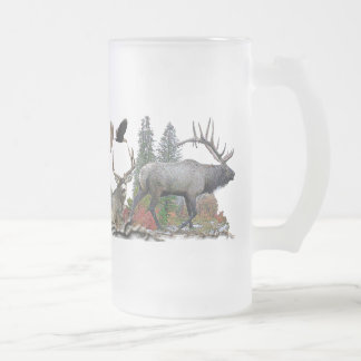 Wildlife of north America Frosted Glass Mug