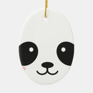 WILDLIFE PANDER FACE CHRISTMAS ORNAMENT