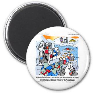 Wildlife & Politics In Alaska Funny Gifts & Tees 6 Cm Round Magnet