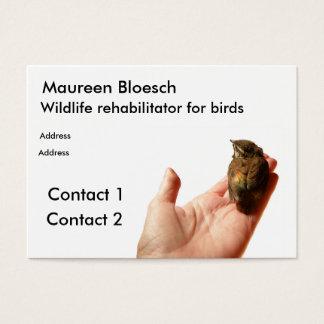 Wildlife rehabilitator business card