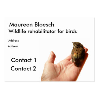 Wildlife rehabilitator pack of chubby business cards