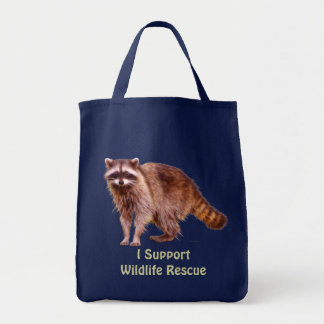 Wildlife Rescue Wild Raccoon Tote