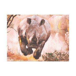 Wildlife Rhino Gallery Wrap Canvas