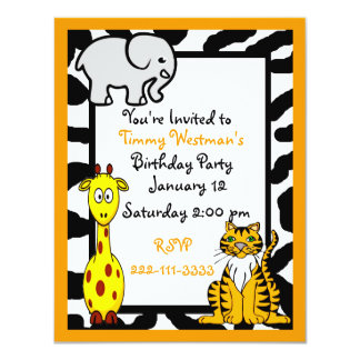 Wildlife Safari Birthday Invitation