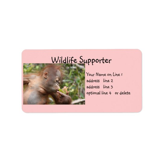 Wildlife Supporter Address Label