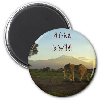 Wildlife Supporter & Animal-lover Gift Items 6 Cm Round Magnet