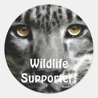 Wildlife Supporter & Animal-lover Gift Items Round Sticker