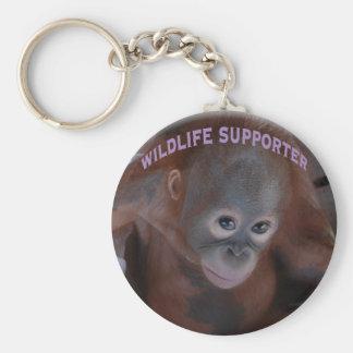Wildlife Supporter Basic Round Button Key Ring