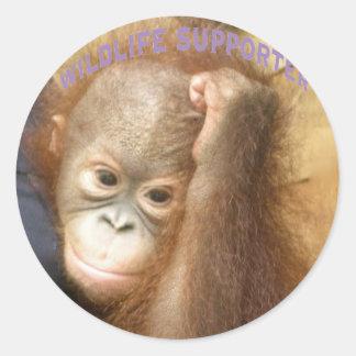 Wildlife Supporter Round Sticker