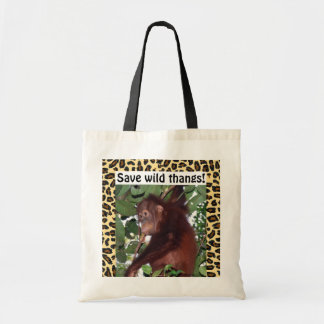Wildlife Sweet Baby Animal Canvas Bag