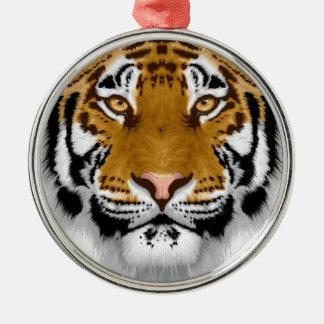 wildlife tiger head animal design christmas ornament