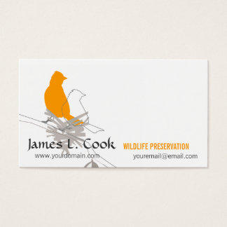 Wildlife Whimsical Nature Birds Business Card