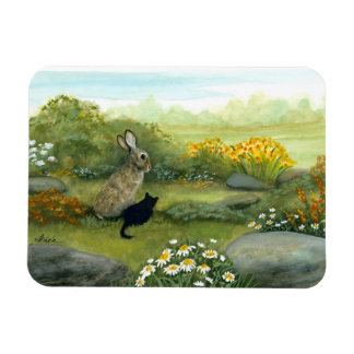 Wildlife Wonders Rabbit and the Kitten by Bihrle Magnet