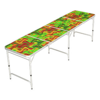 Wildly Abstract Colorful Beer Pong Table