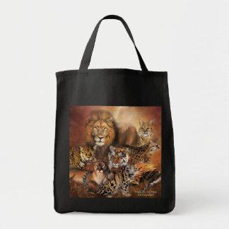 WildStyles - Cat Power Designer Tote Grocery Tote Bag
