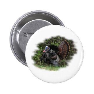 WildTurkey on the prowl 6 Cm Round Badge