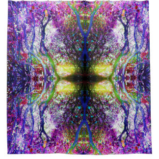 Wildwood Abstract shower curtain