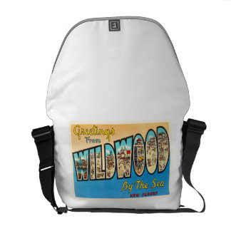 Wildwood by the Sea New Jersey NJ Vintage Postcard Commuter Bags