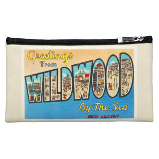 Wildwood by the Sea New Jersey NJ Vintage Postcard Cosmetic Bags
